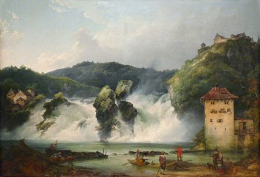 The Falls of the Rhine at Schaffhausen | Philippe-Jacques de Loutherbourg | Oil Painting