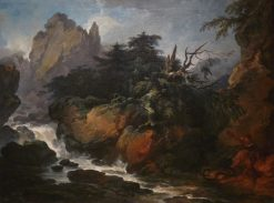 Landscape with a Waterfall | Philippe-Jacques de Loutherbourg | Oil Painting