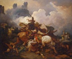 The Battle between Richard Coeur de Lion and Saladin in Palestine | Philippe-Jacques de Loutherbourg | Oil Painting