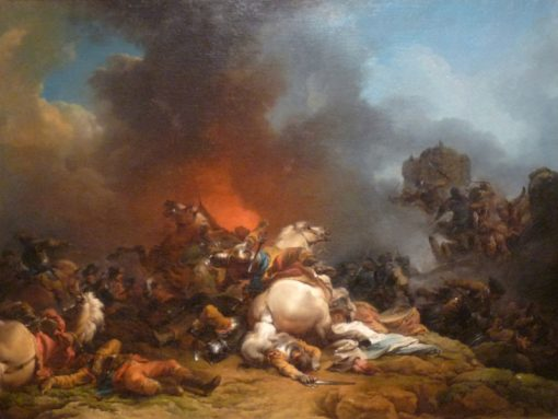 A Battle | Philippe-Jacques de Loutherbourg | Oil Painting