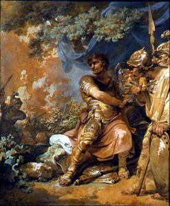 The Death of Epaminondas | Philippe-Jacques de Loutherbourg | Oil Painting