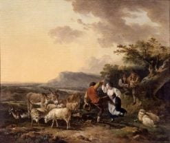 Shepherd and Shepherdess Dancing | Philippe-Jacques de Loutherbourg | Oil Painting