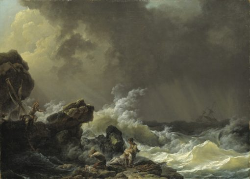 Shipwreck   Philippe-Jacques de Loutherbourg   Oil Painting