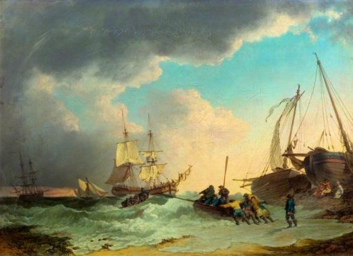 A Sea Piece | Philippe-Jacques de Loutherbourg | Oil Painting