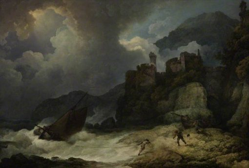 A Storm with Smugglers Landing | Philippe-Jacques de Loutherbourg | Oil Painting