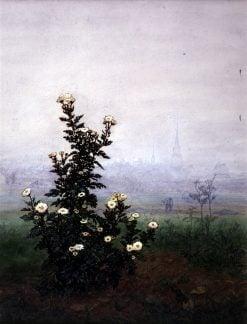 Flowering Chrysantehmums With Worker | Leon Bonvin | Oil Painting