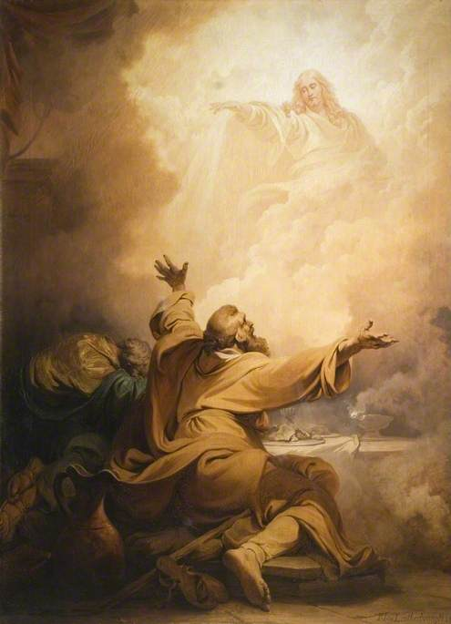 Christ Appearing to the Disciples at Emmaus | Philippe-Jacques de Loutherbourg | Oil Painting