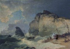 Coastal Scene | Philippe-Jacques de Loutherbourg | Oil Painting