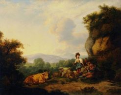 Landscape with Shepherds | Philippe-Jacques de Loutherbourg | Oil Painting