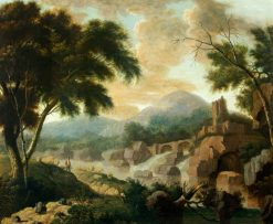 Landscape with Raging River | Philippe-Jacques de Loutherbourg | Oil Painting
