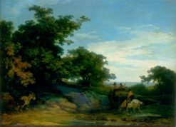 Landscape with Travellers | Philippe-Jacques de Loutherbourg | Oil Painting