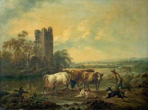 River with Cattle | Philippe-Jacques de Loutherbourg | Oil Painting