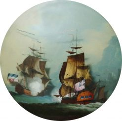 Sea Battle | Philippe-Jacques de Loutherbourg | Oil Painting