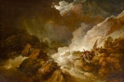 Storm and Avalanche near the Scheidegg in the Valley of Lauterbrunnen | Philippe-Jacques de Loutherbourg | Oil Painting