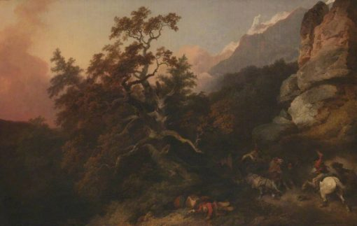 Travellers Attacked by Banditti | Philippe-Jacques de Loutherbourg | Oil Painting