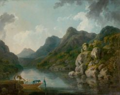 View of Snowdon with the Castle of Dolbadarn from Llanberis | Philippe-Jacques de Loutherbourg | Oil Painting