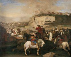 Battle Scene | Aniello Falcone | Oil Painting