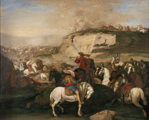 Battle Scene   Aniello Falcone   Oil Painting