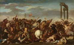 Battle Scene | Aniello Falcone | Oil Painting