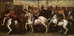 Roman soldiers in the circus | Aniello Falcone | Oil Painting