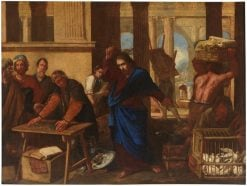 The expulsion of the merchants from the Temple | Aniello Falcone | Oil Painting