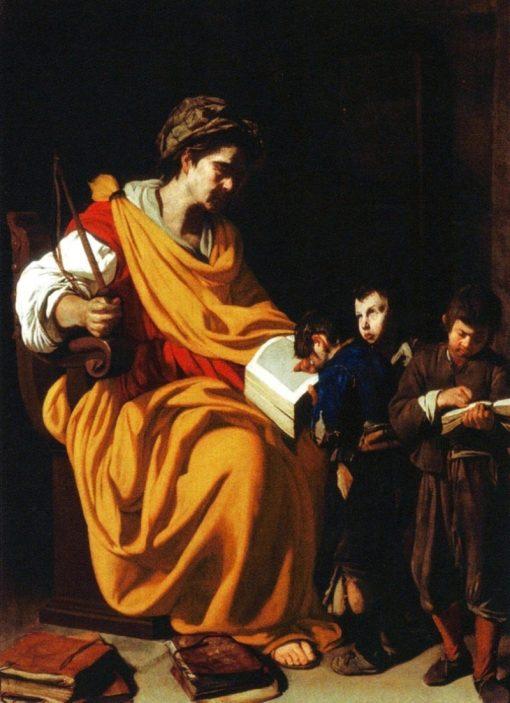 The schoolmistress | Aniello Falcone | Oil Painting