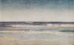 Quiet sunny Morning with heavy Swells at the West Coast of Jutland   Niels Kristian Skovgaard   Oil Painting