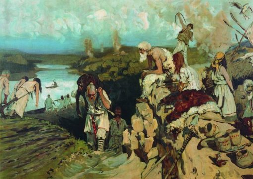 The Life of Eastern Slavs | Sergei Ivanov | Oil Painting