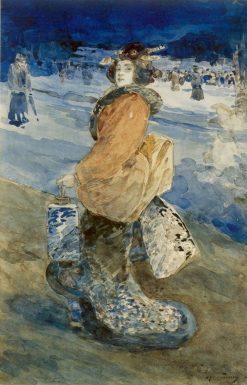 LElegante Japonaise | Henri Somm | Oil Painting