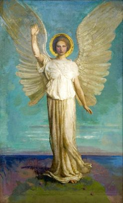 Angel of the Dawn | Abbott Handerson Thayer | Oil Painting