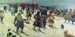 Moscow Warriors in the 16th Century | Sergei Ivanov | Oil Painting