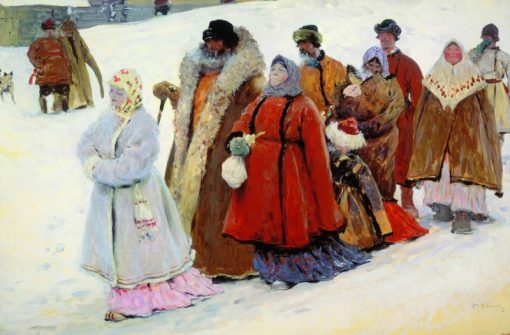 A Family   Sergei Ivanov   Oil Painting
