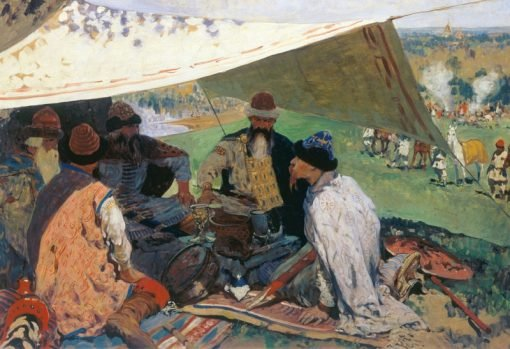 A Meeting of Russian Princes | Sergei Ivanov | Oil Painting