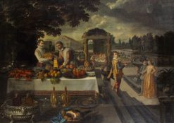 Banquet in the Park | Lodewijk Toeput | Oil Painting