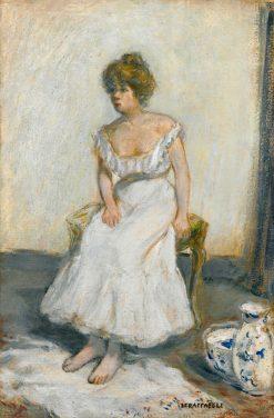 Femme a sa toilette   Jean-Francois Raffaëlli   Oil Painting