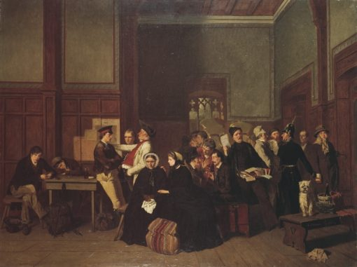 Third-Class Waiting-Room   Carl dUnker   Oil Painting