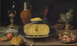 Breakfast Piece with Cheese and Goblet | Jacob Foppens van Es | Oil Painting