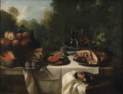 Breakfast Piece with Ham | Francois Desportes | Oil Painting