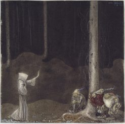 Brother St. Martin and the Three Trolls | John Bauer | Oil Painting