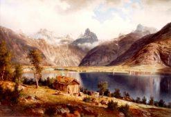 Romsdalshorn   Johan Fredrik Eckersberg   Oil Painting
