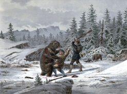 Bear-Hunting   Johan Fredrik Eckersberg   Oil Painting