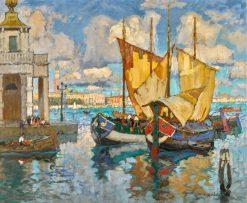 In Venice   Konstantin Gorbatov   Oil Painting