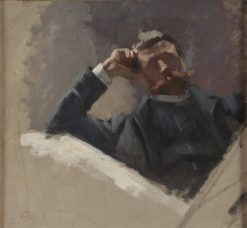 The Artist Georg Pauli. Study | Eva Fredrika Bonnier | Oil Painting