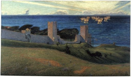 Vision. Scene from Visby | Richard Bergh | Oil Painting