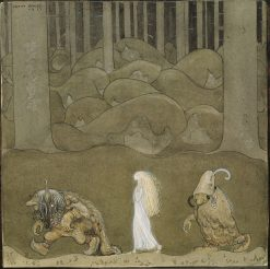The Princess and the Trolls | John Bauer | Oil Painting