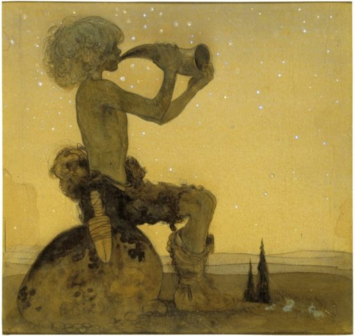 A Fairy Shepherd | John Bauer | Oil Painting