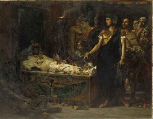 Auguste au tombeau dAlexandre | Jean-Eugène Buland | Oil Painting