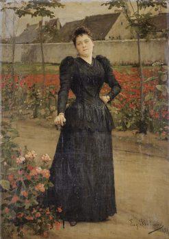 A stroll on the park | Jean-Eugène Buland | Oil Painting