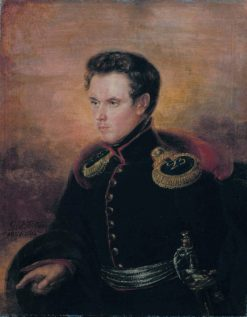 Sublieutenant Anton af Tengström | Gustaf Wilhelm Finnberg | Oil Painting