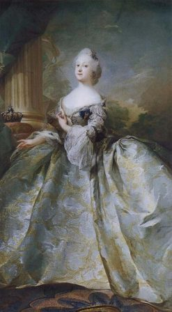 Portrait of Queen Louise of Denmark | Carl Gustaf Pilo | Oil Painting